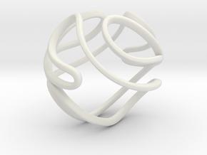 Abstract Geometric Sphere in White Premium Versatile Plastic: Small