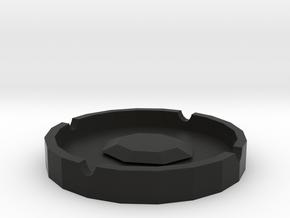 Ashtray in Black Natural Versatile Plastic