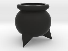 Cauldron Succulent Planter in Black Natural Versatile Plastic: Small