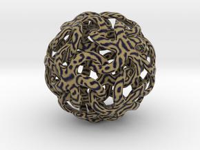 Tiger stars ornament in Natural Full Color Sandstone
