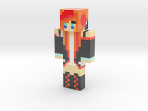 Flamegirl   Minecraft toy in Glossy Full Color Sandstone