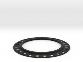 Universal Brake Rotor Mount for LSS - Slim design in Black Natural Versatile Plastic