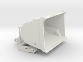 1/64th High Tip Front End Loader Bucket in White Natural Versatile Plastic