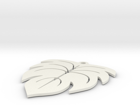 Ficus Leaf earring in White Natural Versatile Plastic
