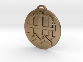 Warhammer Dwarf Clan - Custom Piece in Polished Gold Steel
