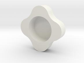 Creativity type bottle cap star in White Natural Versatile Plastic