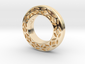 Ladies ring FOR HER Queen edition in 14k Gold Plated Brass