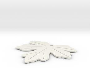 Maple Leaf earring in White Natural Versatile Plastic