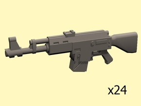 28mm SciFi LK-47 laser rifles x24 in Smoothest Fine Detail Plastic