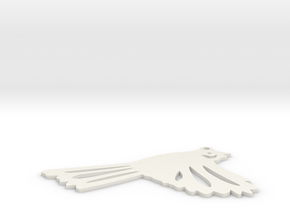 New Zealand fantail in White Natural Versatile Plastic