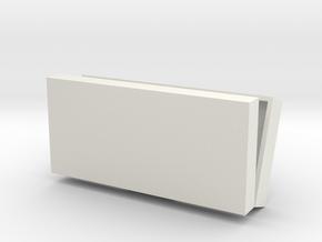 Pencil case in White Natural Versatile Plastic