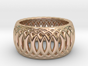 Ring of Rings - 18.5mm Diam in 14k Rose Gold Plated Brass