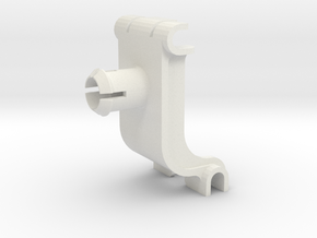 Whirlpool Dishwasher Upper Rack Clip, WP8268846 in White Natural Versatile Plastic