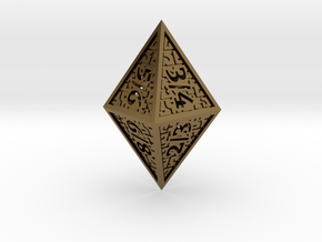 Hedron D8 Tarmogoyf (Hollow), balanced die in Polished Bronze