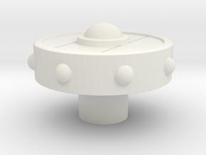 Norse Shield Extruder Knob in White Natural Versatile Plastic