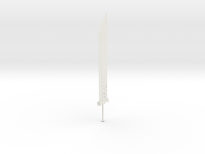1/3rd Scale Cloud Buster Sword in White Natural Versatile Plastic