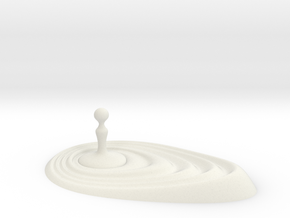 Drop water in White Natural Versatile Plastic