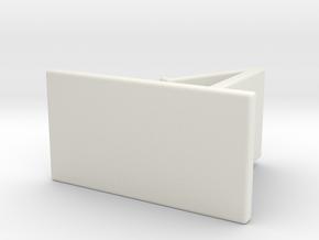 Phone holder in White Natural Versatile Plastic: Medium