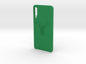 Samsung A50 Deer Trophy Case  in Green Processed Versatile Plastic