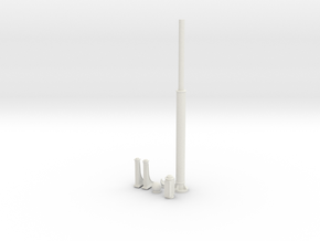 Street lamp post - Tall format in White Natural Versatile Plastic