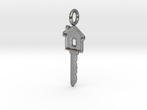 House Key in Polished Silver