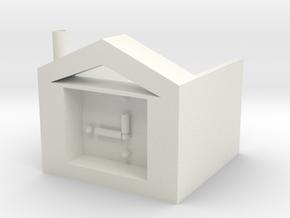 Sticky storage box in White Natural Versatile Plastic