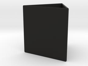 Triangle Vases in Black Natural Versatile Plastic