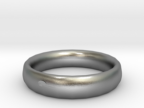 Thin ring in Natural Silver