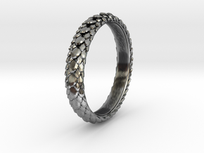 Dragon Scale ring in Antique Silver