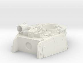 Command Tank turret in White Natural Versatile Plastic