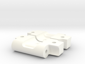NIX73282 RPM Bandit Arm Mounts for RC10 (3-2) in White Processed Versatile Plastic