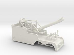 1/64th Tandem 22' Big Stick tow wrecker body in White Natural Versatile Plastic