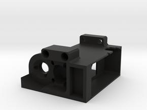Single Channel Commutator Housing in Black Natural Versatile Plastic