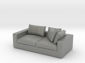 Miniature 1:48 Sofa in Gray PA12: 1:48 - O