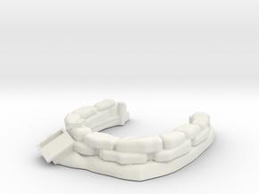 Sandbag Emplacement 1/72 in White Natural Versatile Plastic