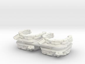 Sandbag Emplacement (x4) 1/160 in White Natural Versatile Plastic