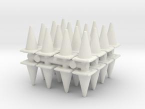Traffic Cones (x32) 1/100 in White Natural Versatile Plastic