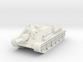 SU-122 Tank 1/76 in White Natural Versatile Plastic
