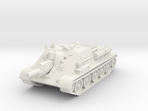SU-122 Tank 1/56 in White Natural Versatile Plastic