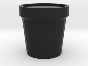 flower pot in Black Premium Versatile Plastic
