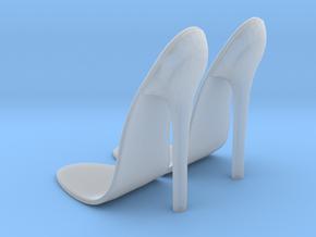 girl-platform sole base-heel1 in Smooth Fine Detail Plastic
