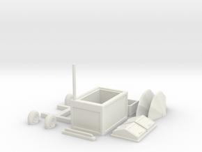 Mobile restaurant stand in White Natural Versatile Plastic