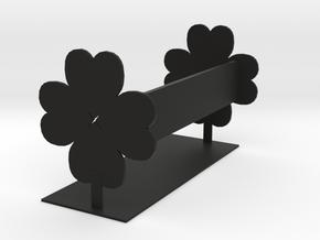 Clover Bookshelf in Black Natural Versatile Plastic