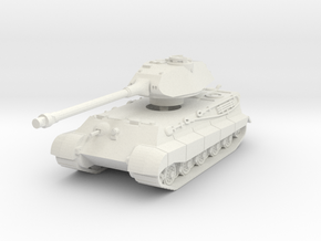 Tiger II P (Skirts) 1/87 in White Natural Versatile Plastic