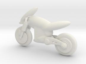 Printle Thing Futuristic Bike - 1/24 in White Natural Versatile Plastic
