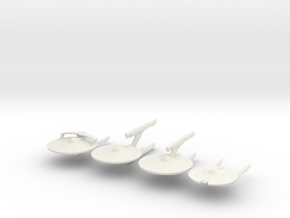 2500 TMP Federation 4 pack in White Natural Versatile Plastic