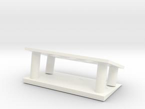 筆架 penholder in White Processed Versatile Plastic