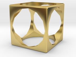 方塊飾品 in Polished Brass