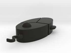 Hundred Step Snake Mouse in Black Natural Versatile Plastic