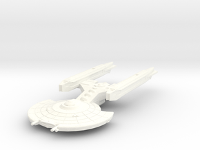 Quinn Class Frigate in White Processed Versatile Plastic